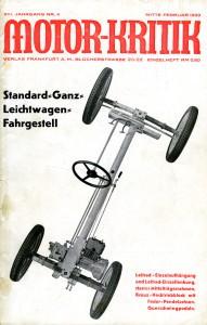 Det tyske blad Motor-Kritik, nr 1933/4